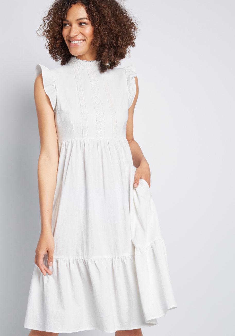 Louche prairie dress