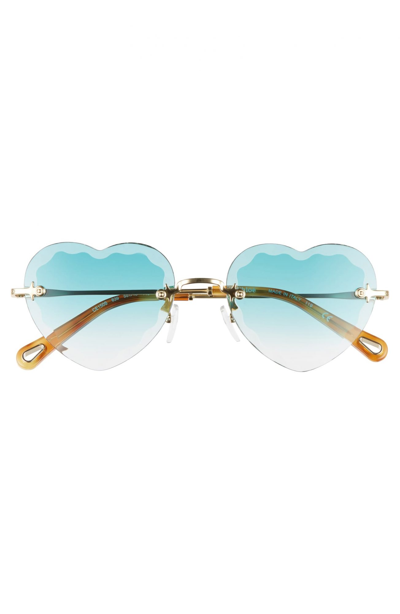 Chloe heart-shaped sunglasses