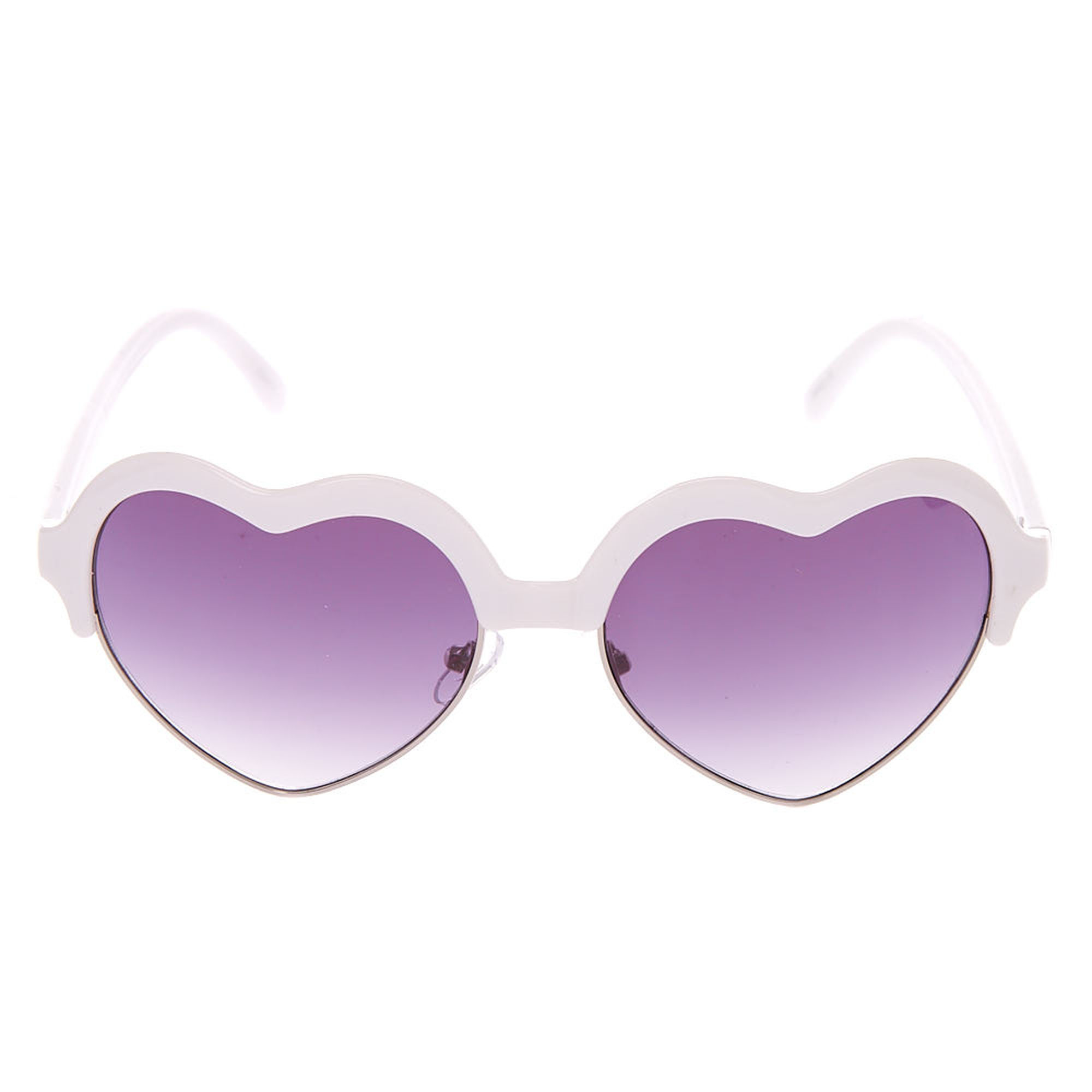 Claire's heart-shaped sunglasses