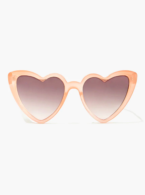Forever 21 heart-shaped sunglasses