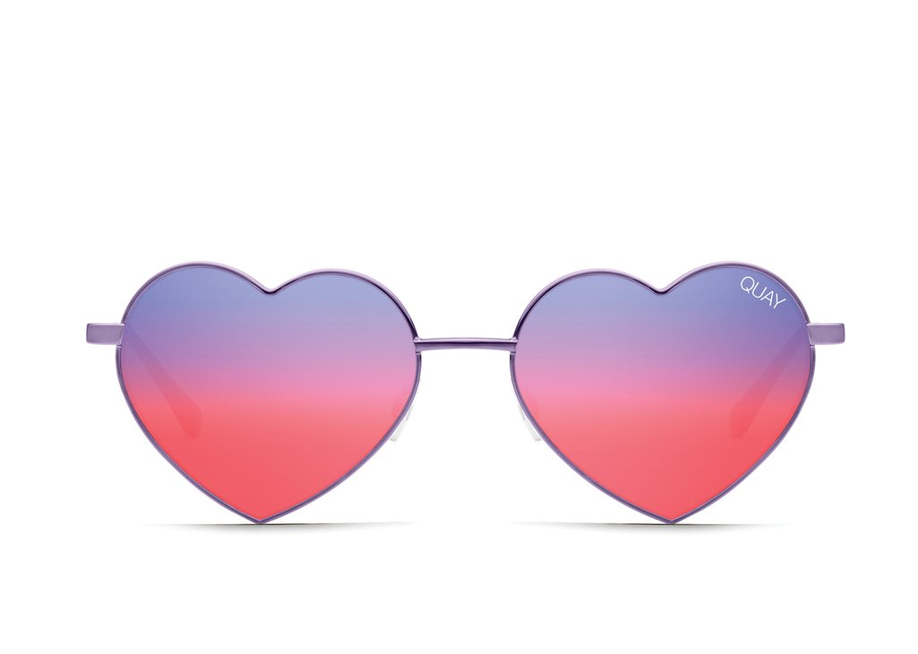 Quay Australia heart-shaped sunglasses
