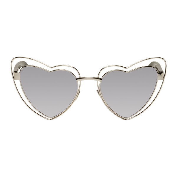 Saint Laurent heart-shaped sunglasses
