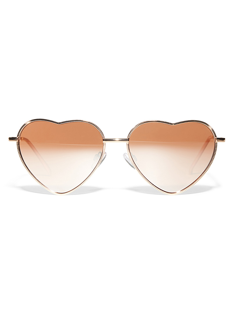 Simons heart-shaped sunglasses
