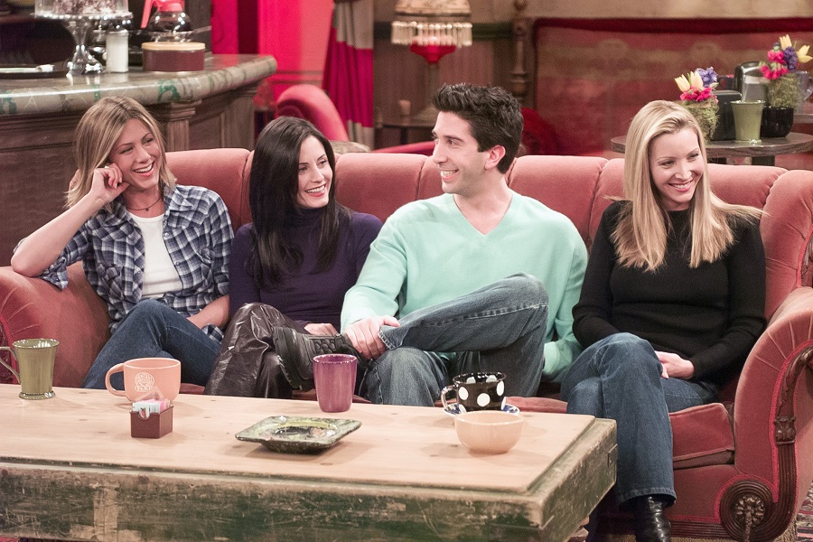 Friends scene in Central Perk