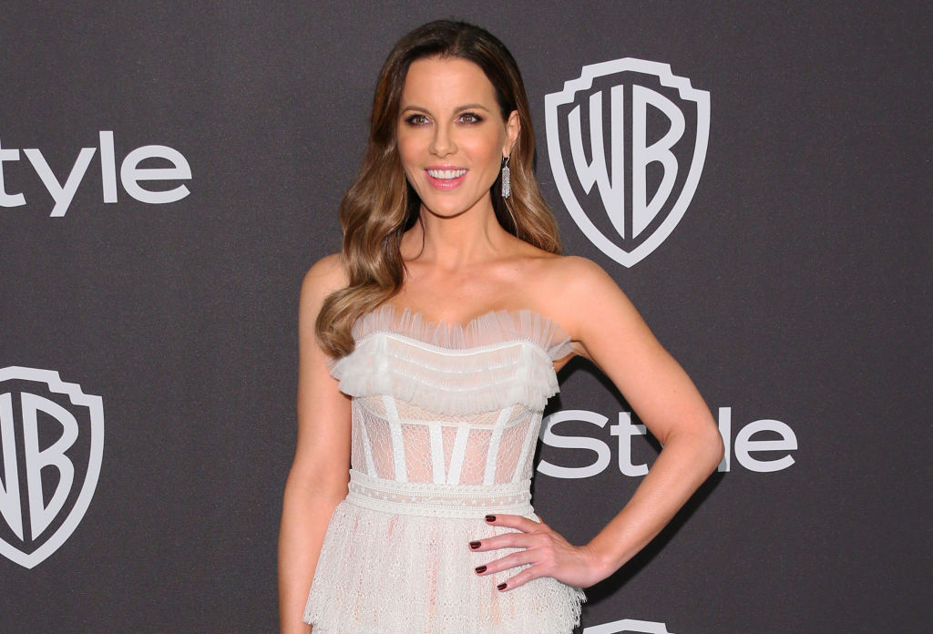 British actress Kate Beckinsale arrives for the Warner Bros. and In Style 20th annual post Golden Globes party