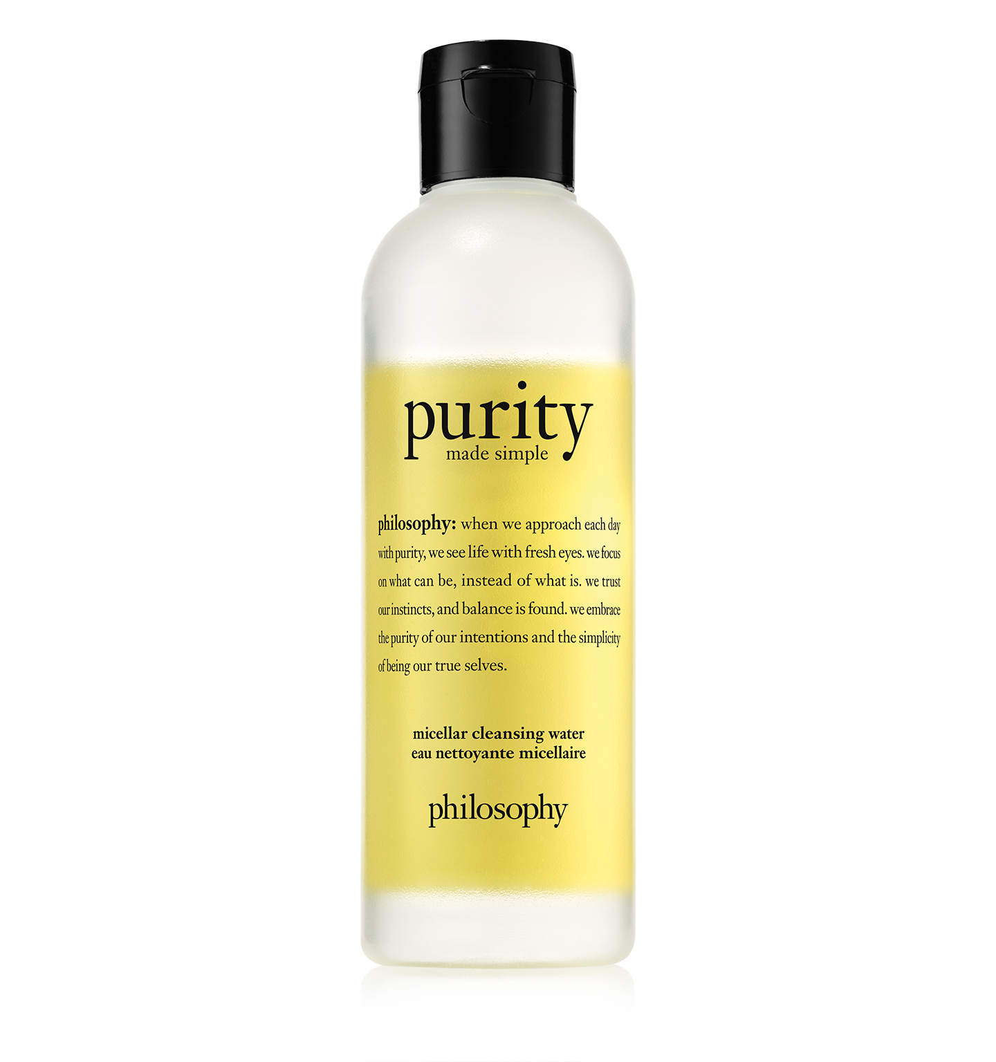 philosophy purity made simple micellar cleansing water bottle