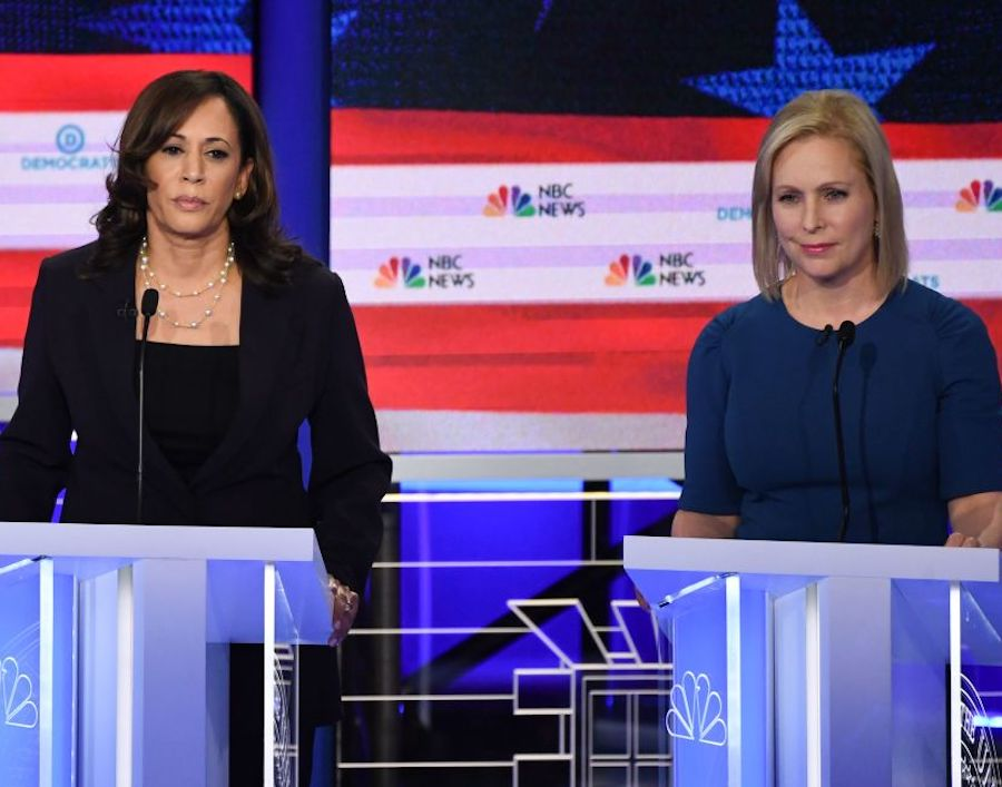 Kamala Harris and Kirsten Gillibrand at Democratic debate
