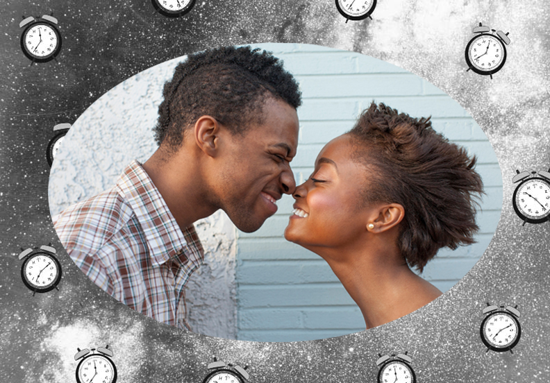 Couple smiling and touching noses