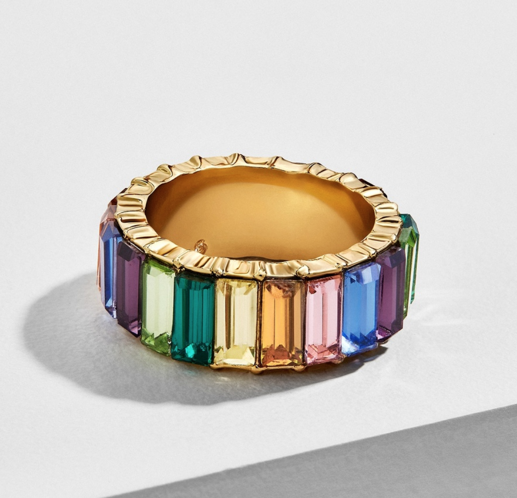 colorful baguettes ring