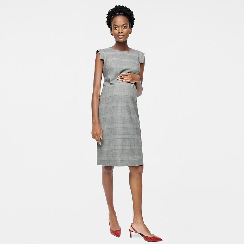 HATCH x J. Crew Resume Dress in glen plaid