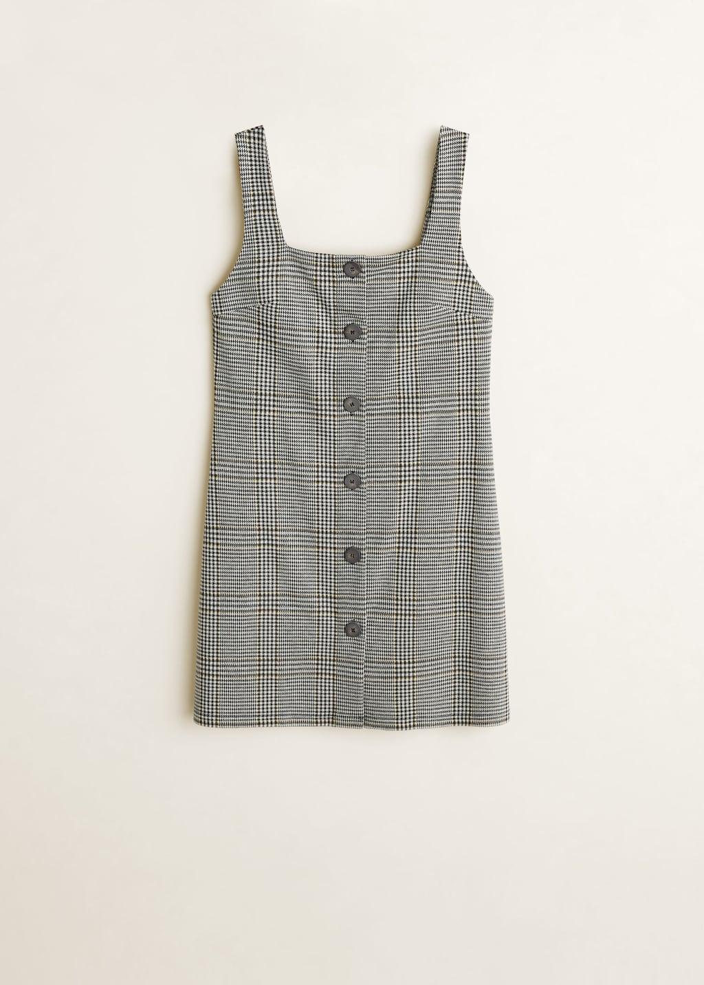Plaid Button Down Dress