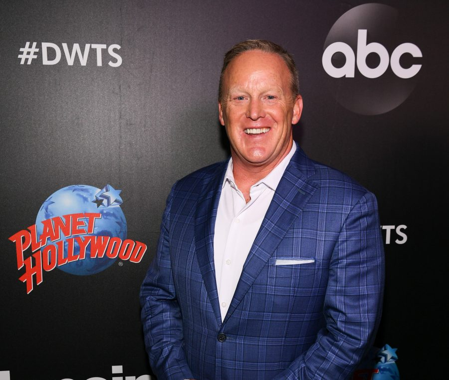 Sean Spicer on red carpet for Dancing With The Stars