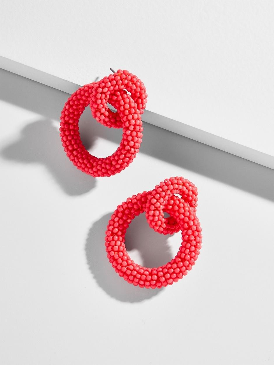 baublebar earrings in coral