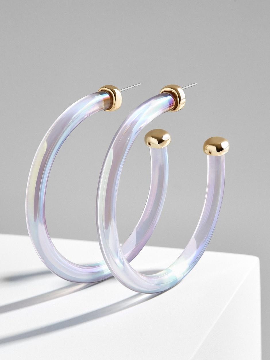 baublebar lucite hoop earrings