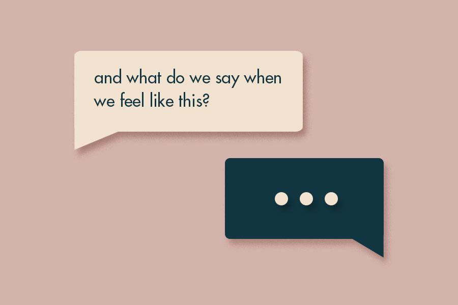 therapist meme conversation bubbles illustration