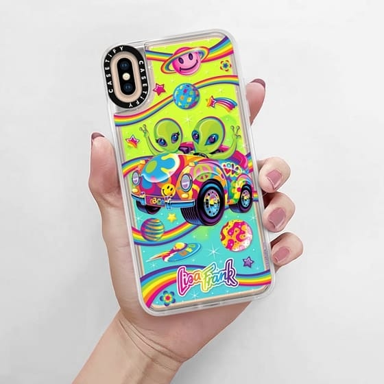 lisa frank iphone case with aliens on it