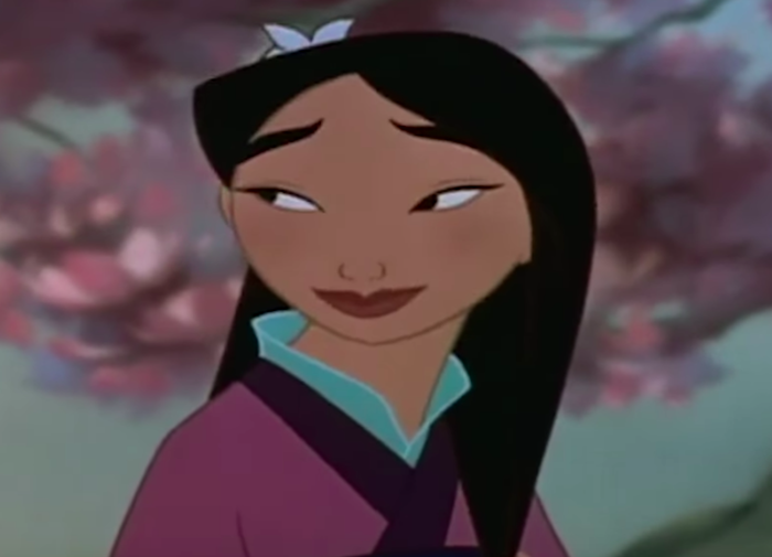 Mulan in the trailer for Disney animated film