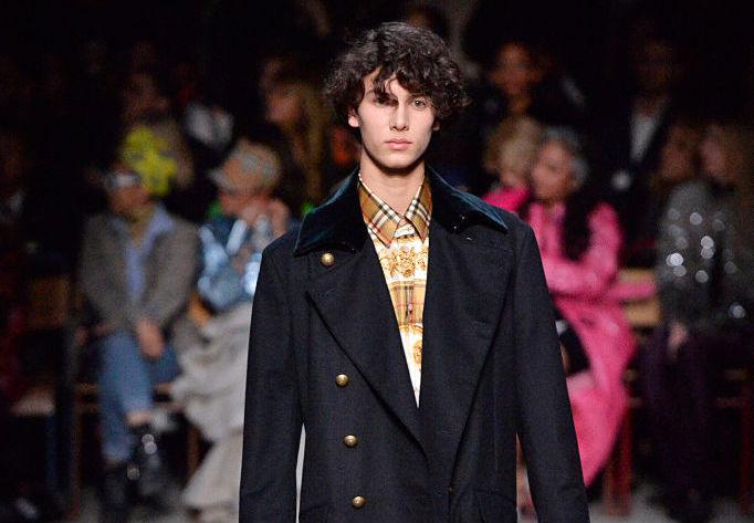 Prince Nikolai of Denmark walking in a show at London Fashion Week
