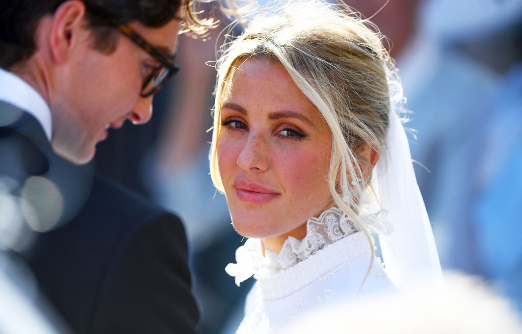 Close-up picture of Ellie Goulding on her wedding day