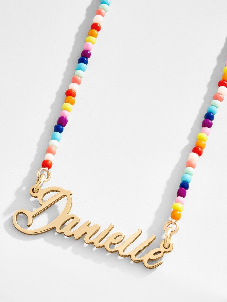 BaubleBar nameplate necklace