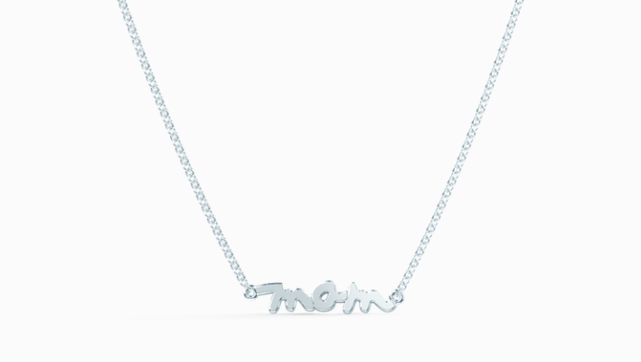 Tiary nameplate necklace