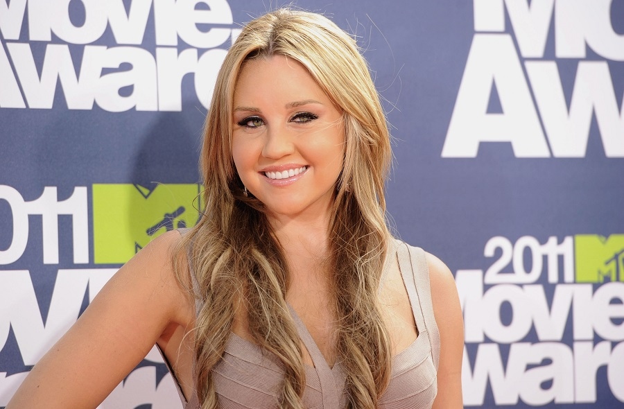 amanda bynes at mtv movie awards