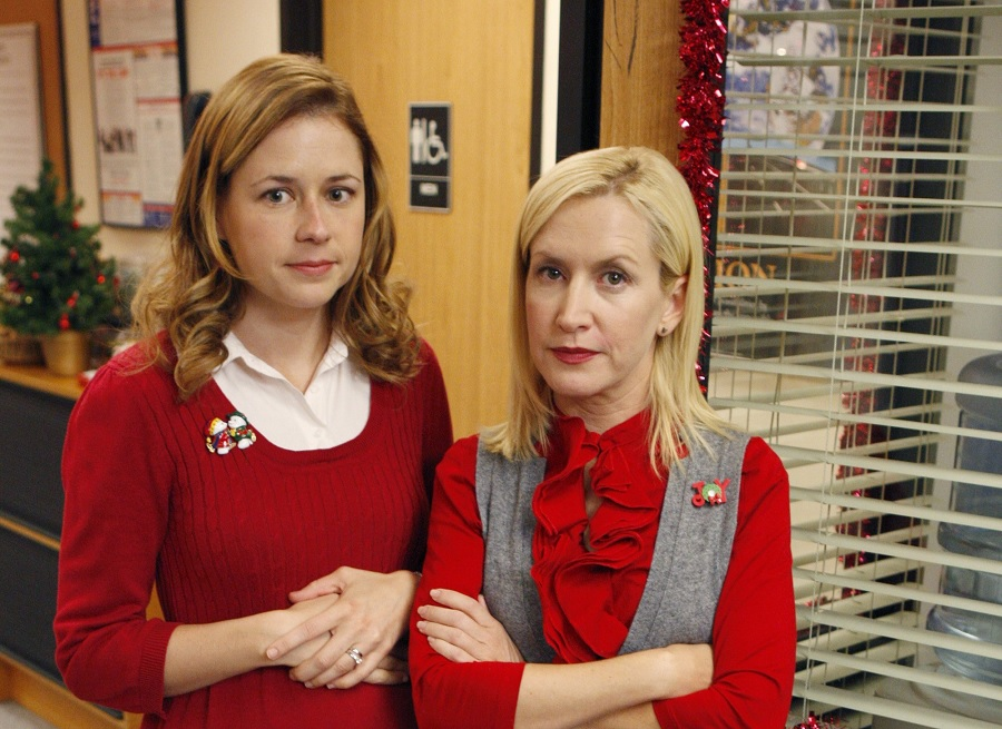 the office pam and angela