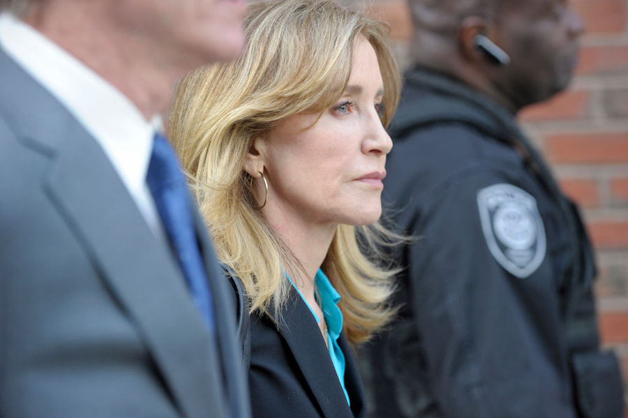Felicity Huffman at court for college admissions scandal