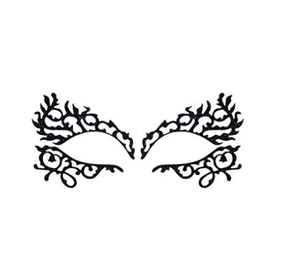 lady gaga haus laboratories black lace eye mask stickers