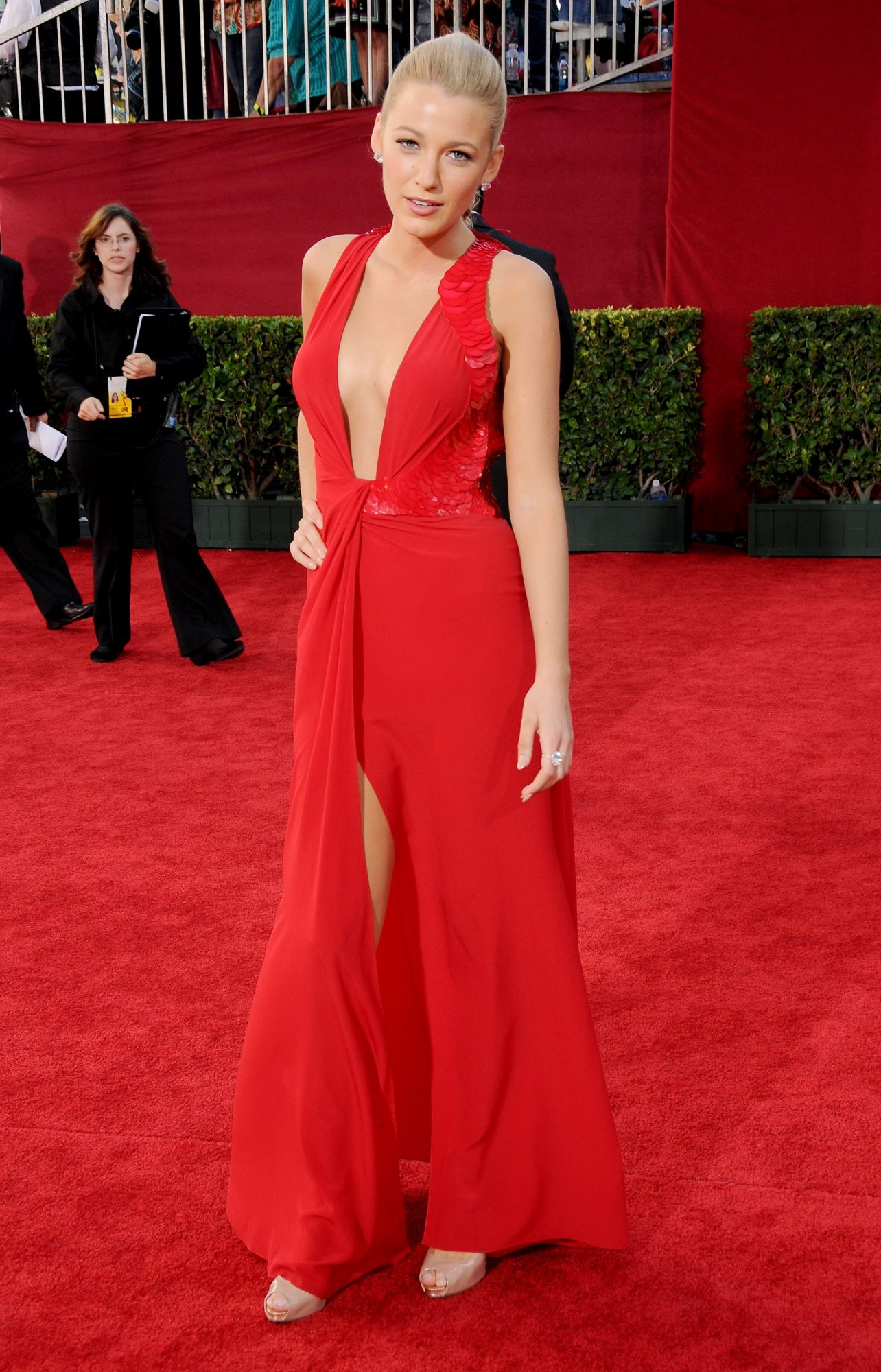 blake lively red emmy awards dress, best emmy awards red carpet looks