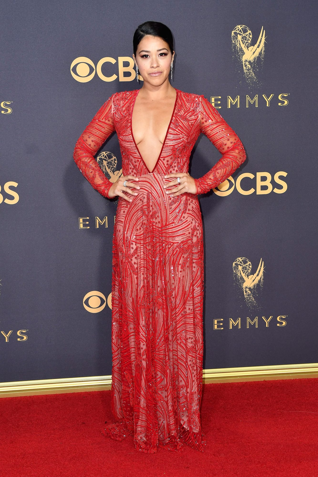 gina rodriguez emmy awards, best emmys red carpet looks