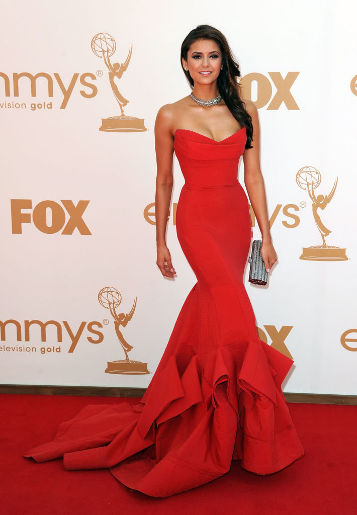nina dobrev 2011 emmy awards dress