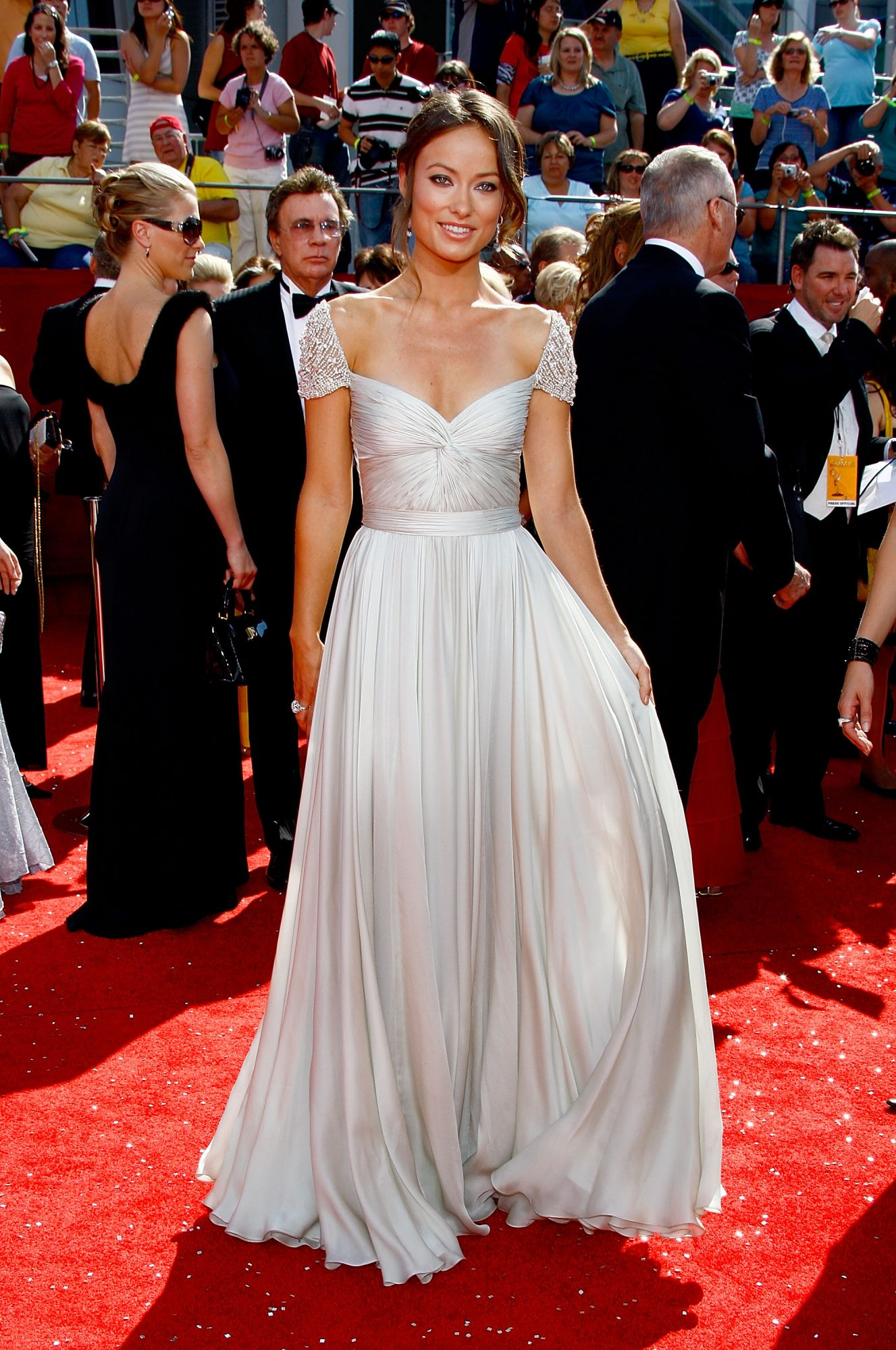 olivia wilde emmy awards, best emmys red carpet looks