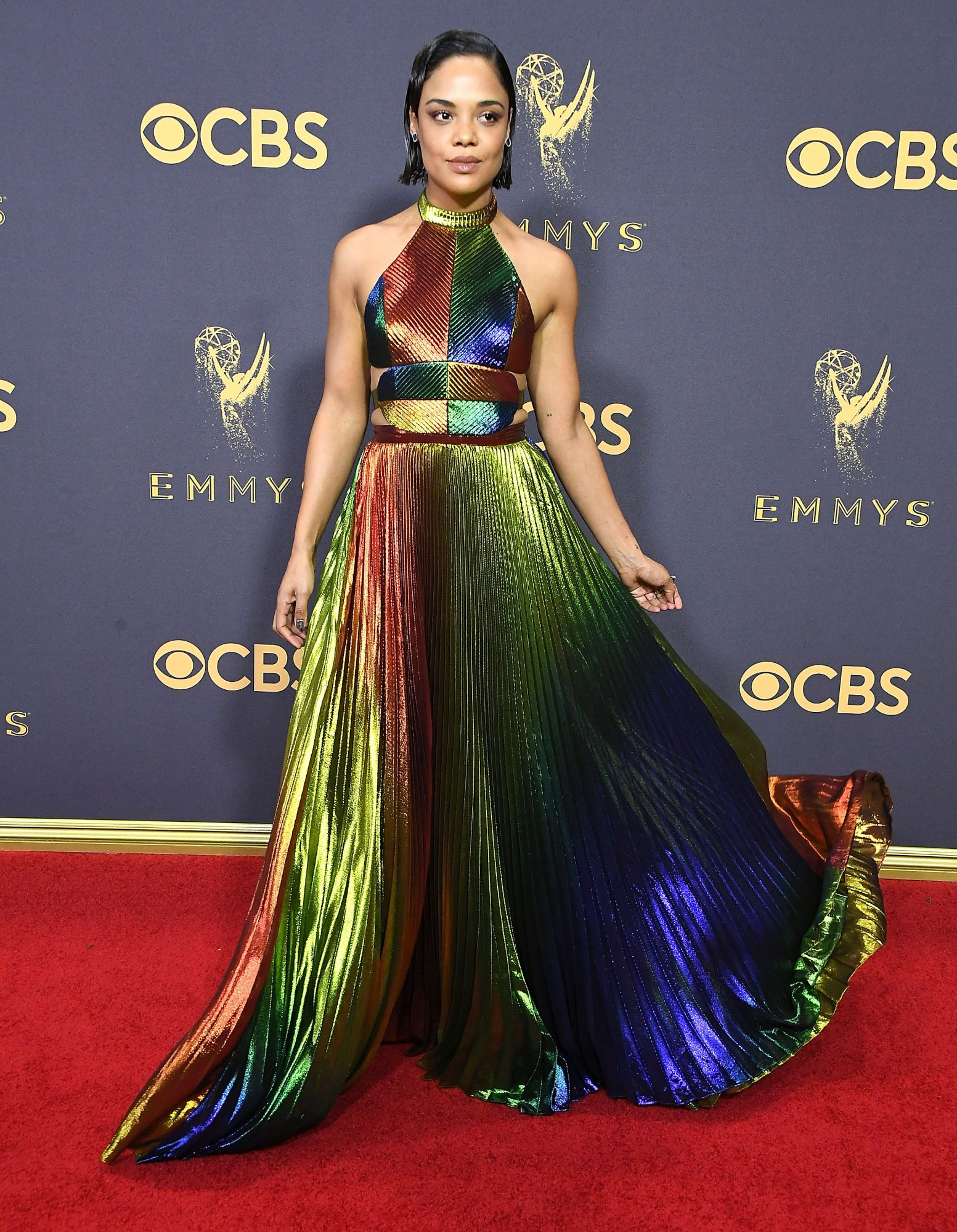tessa thompson 2017 emmy awards, best emmy awards red carpet looks