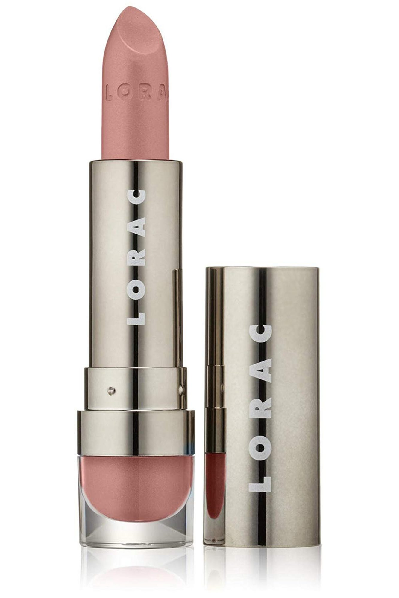 mandy moore emmys makeup lorac lipstick in nude pink