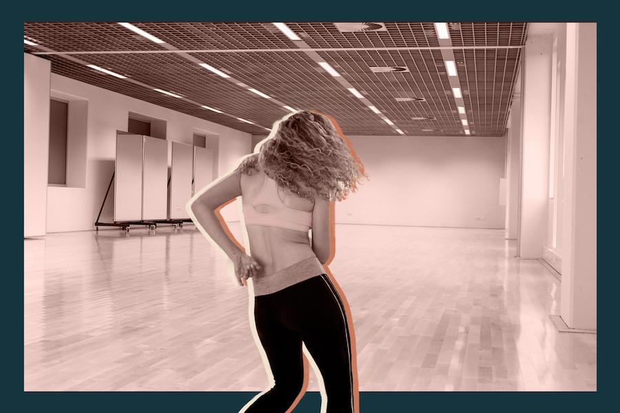 Woman dancing in a studio