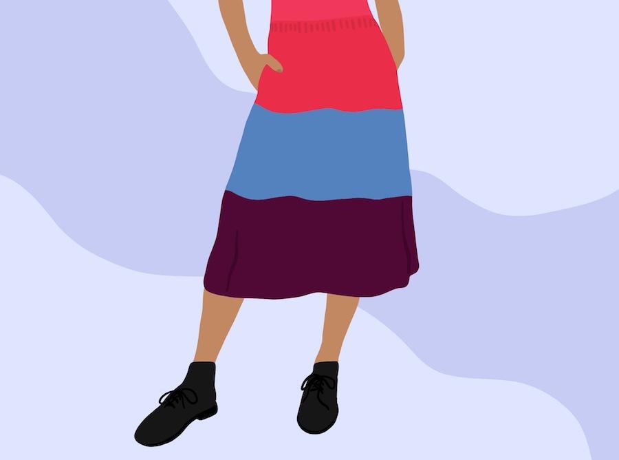 Illustration of 2000s skirt
