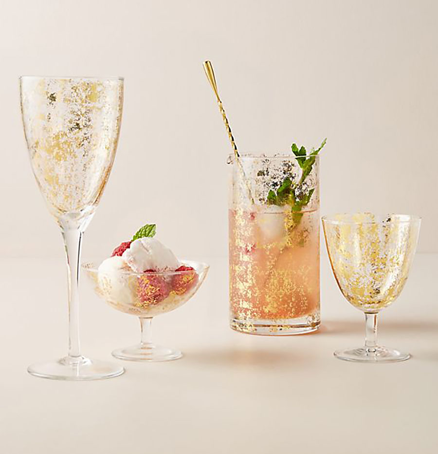 anthropologie foiled glasses home sale