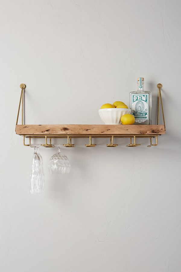 anthropologie hanging bar shelf wood, anthro hosting sale
