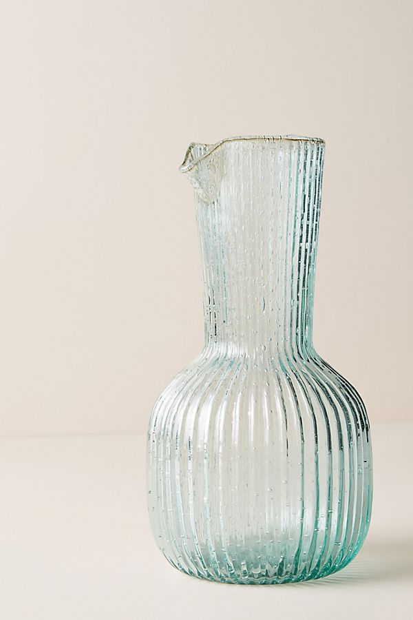 anthropologie carafe in blue