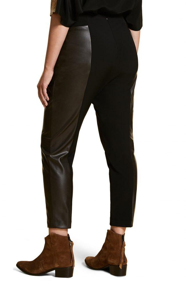 Marina-Rinaldi-Ravalle-Faux-Leather-Panel-Ankle-Pants-e1571160184302.jpeg