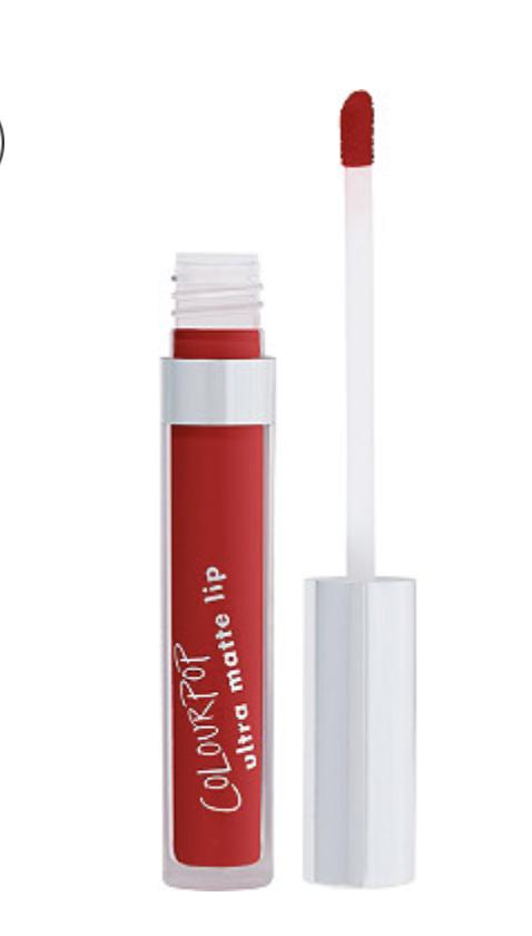 colourpop matte lipstick in red