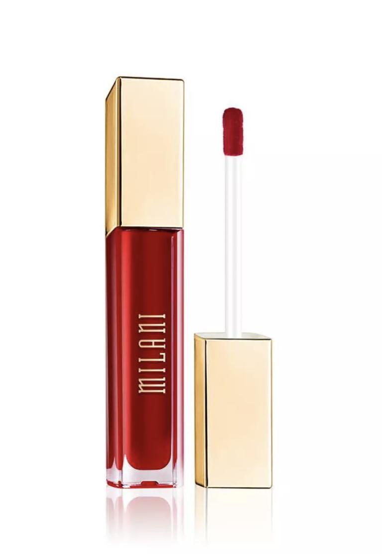 Milani matte lipstick in divine red, best matte red lipstick, dark skin matte lipstick