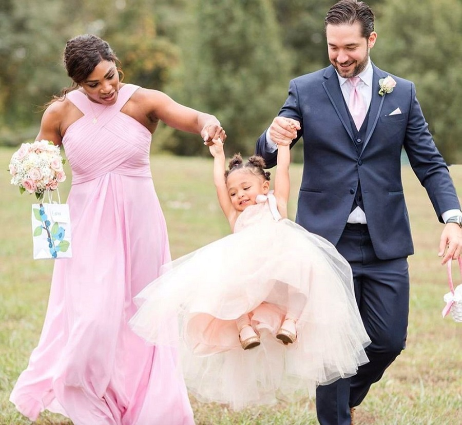 serena williams affordable bridesmaid dresses by azazie in pink
