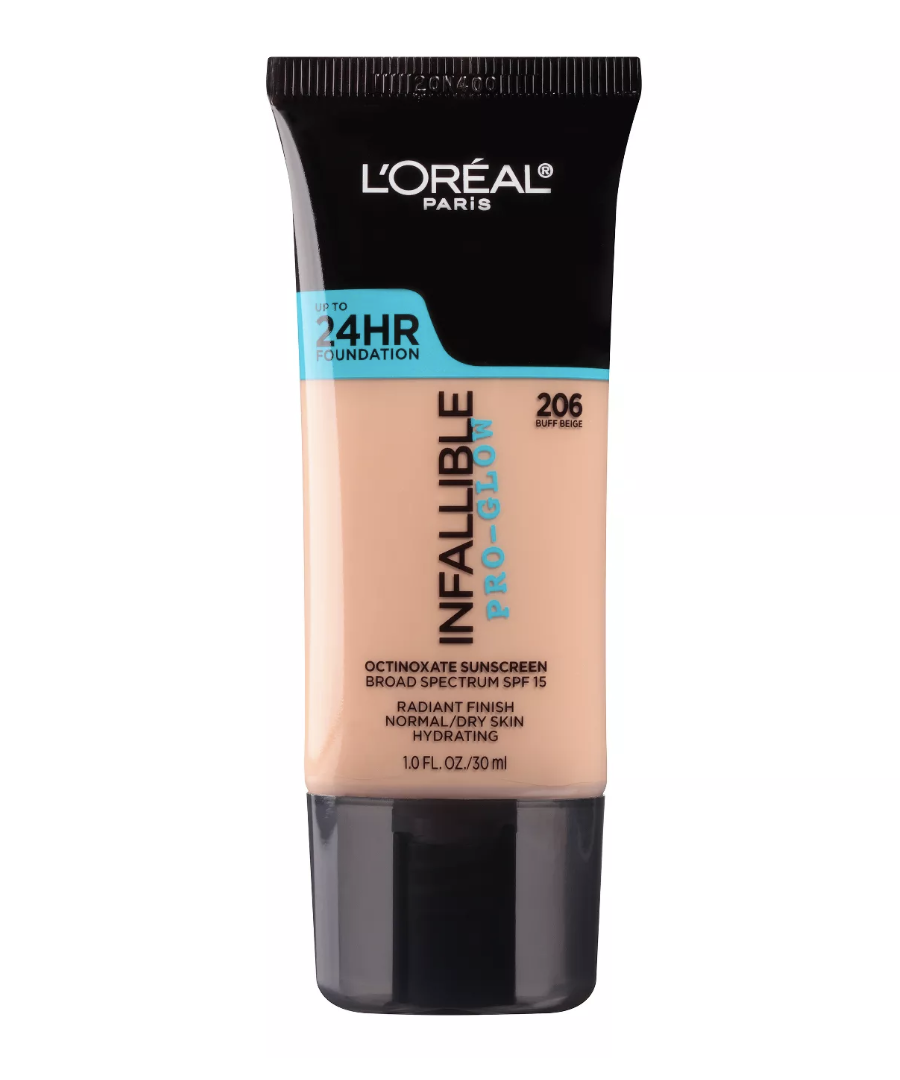 loreal paris infallible pro glow foundation, best drugstore foundation