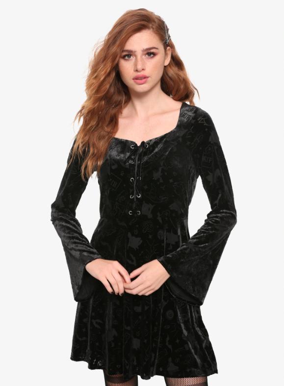 hocus pocus velvet dress halloween witch