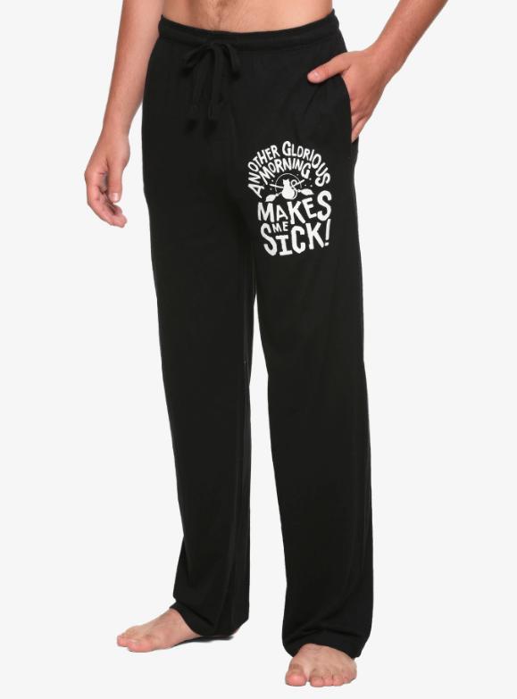 hocus pocus pajams pants mornings make me sick