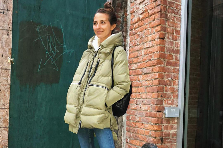 Arielle Charnas wearing Orolay Women's Thickened Down Jacket