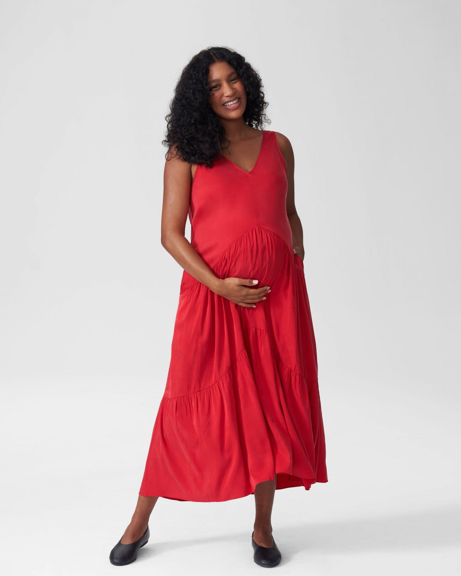 universal standard maternity maxi dress plsu size maternity clothing