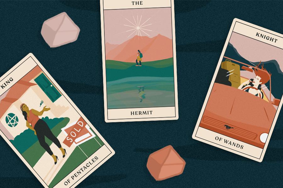 november tarotscopes three tarot cards lay flat